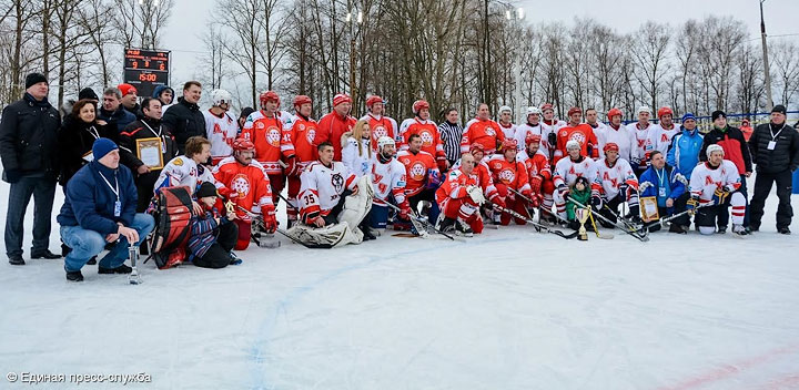 Звёзды советского хоккея и сборная района провели матч в Сергиевом Посаде