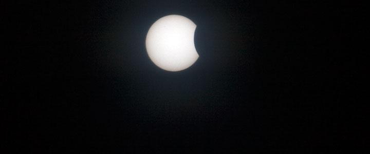 Солнечное затмение над Сергиевым Посадом, 20 марта 2015 года