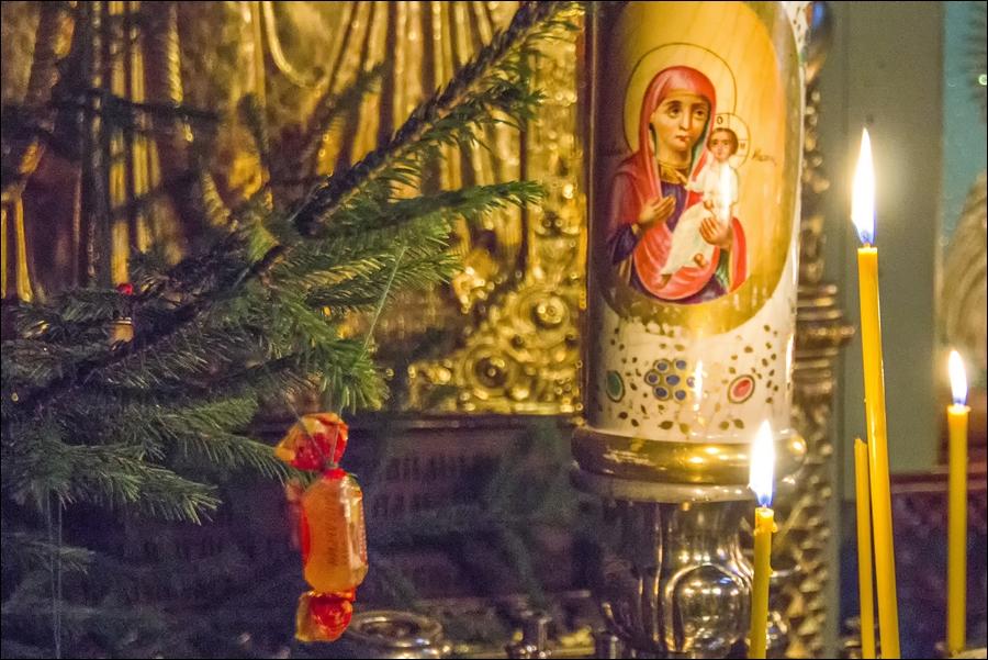 Рождество Христово. Казанский храм села Шеметово. 6 января 2016 года