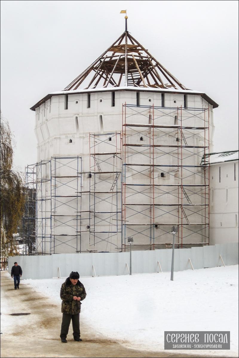 Воссоздание исторического облика купола Пятницкой башни Троице-Сергиевой Лавры