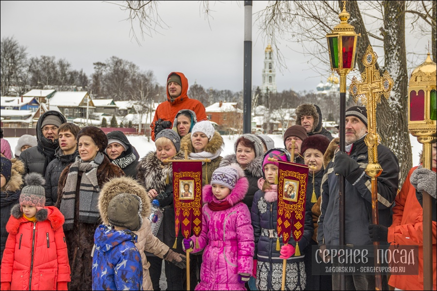Праздник Крещения Господня. Свято-Духовской храм Сергиева Посада. 19 января 2019 года