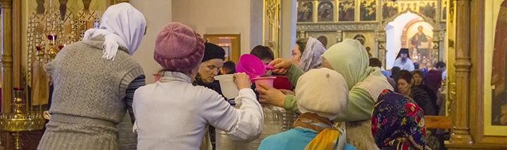 Святое Богоявление. Божественная Литургия и Великое освящение воды в Успенском храме Сергиева Посада. 19 января 2015 года
