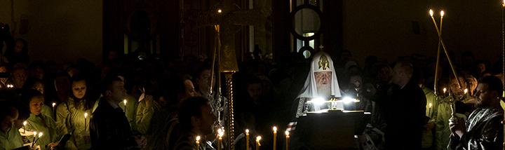 Патриаршее служение в четверг первой седмицы Великого поста в Покровском Хотькове ставропигиальном монастыре