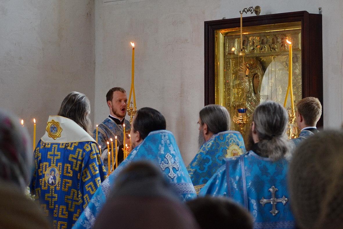 В храме Боголюбской киновии впервые, после почти столетнего перерыва, совершена Божественная литургия